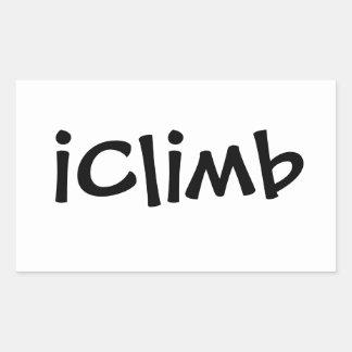 iClimb Pegatina Rectangular