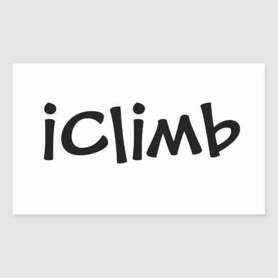 iClimb Rectangular Sticker