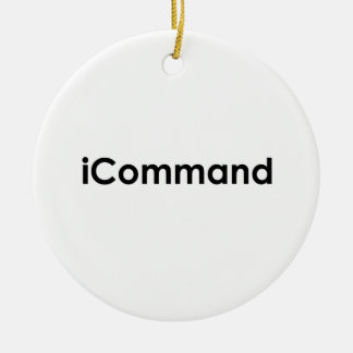 iCommand Marching Band Commander Ceramic Ornament