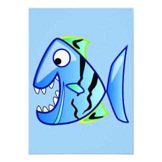 icon-27971  icon blue fish theme apps piranha CUTE Card