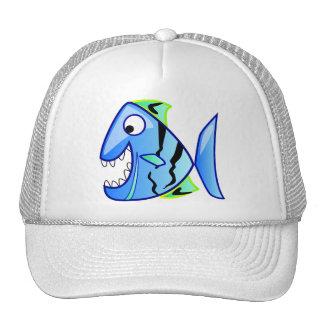 icon-27971  icon blue fish theme apps piranha CUTE Trucker Hats