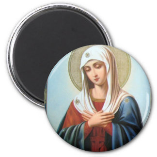 ICON (32)mary mother of good 2 Inch Round Magnet