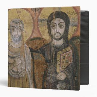 Icon depicting Abbott Mena with Christ Vinyl Binder