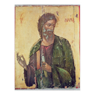 Icon depicting St. Andrew Postcard