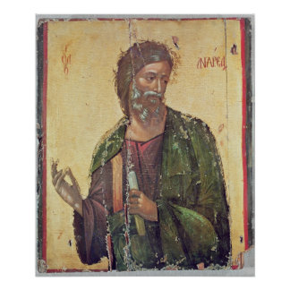 Icon depicting St. Andrew Poster
