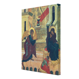 Icon depicting the Annunciation Canvas Print