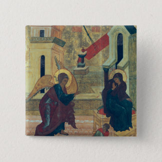 Icon depicting the Annunciation Pinback Button
