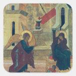 Icon depicting the Annunciation Square Sticker