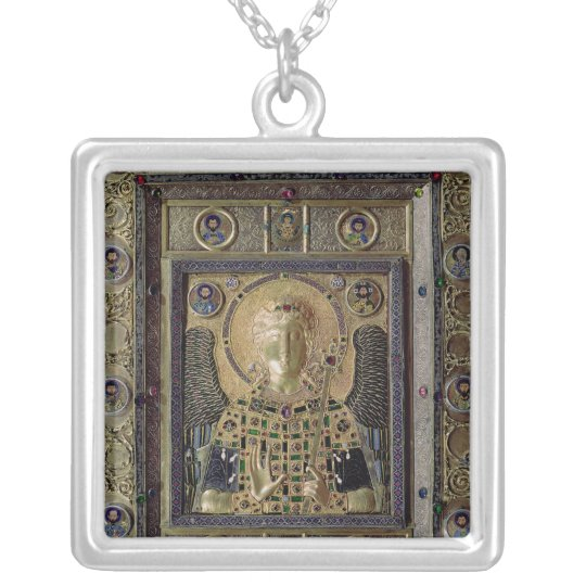 Icon depicting the Archangel Michael Silver Plated Necklace