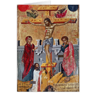 Icon depicting the Crucifixion, 1520 Card