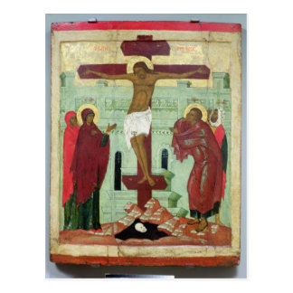 Icon depicting the Crucifixion with the Virgin Post Card