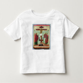 Icon depicting the Crucifixion with the Virgin Shirt