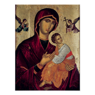 Icon depicting the Holy Mother of the Passion Poster