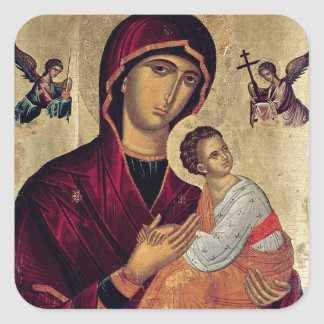 Icon depicting the Holy Mother of the Passion Square Sticker