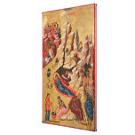 Icon depicting the Nativity Gallery Wrapped Canvas
