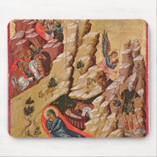 Icon depicting the Nativity Mouse Pad