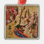 Icon depicting the Nativity Christmas Tree Ornament