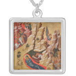 Icon depicting the Nativity Square Pendant Necklace