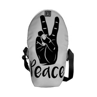 "Icon hand peace sign with text ""PEACE"" Courier Bag"