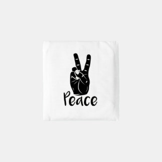 "Icon hand peace sign with text ""PEACE"" Reusable Bag"