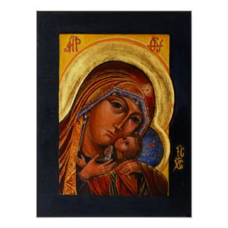 Icon of Holy Mother of the East Print
