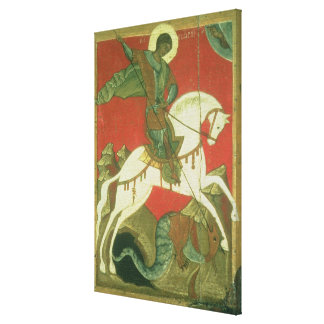 Icon of St. George and the Dragon Canvas Print