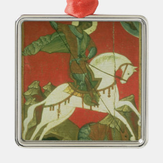 Icon of St. George and the Dragon Metal Ornament