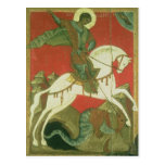 Icon of St. George and the Dragon Post Card