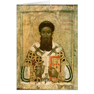 Icon of St. Gregory  Archbishop of Thessaloniki Greeting Cards