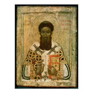 Icon of St. Gregory  Archbishop of Thessaloniki Poster