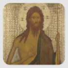 Icon of St. John the Forerunner Square Sticker