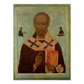 Icon of St. Nicholas Poster