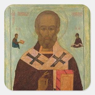 Icon of St. Nicholas Square Sticker
