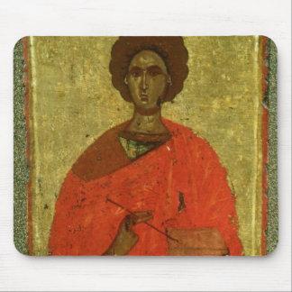 Icon of St. Pantaleon of Nicomedia Mouse Pad
