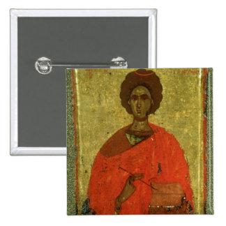 Icon of St. Pantaleon of Nicomedia Pinback Button