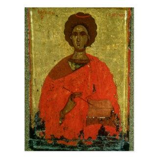Icon of St. Pantaleon of Nicomedia Postcard