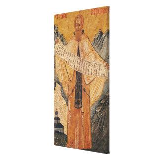 Icon of St. Sabas of Jerusalem, 1572 Canvas Print