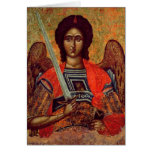 Icon of the Angel Michael, Greek, 18th century Greeting Cards