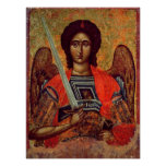 Icon of the Angel Michael, Greek, 18th century Print