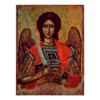 Icon of the Angel Michael, Greek, 18th century Poster