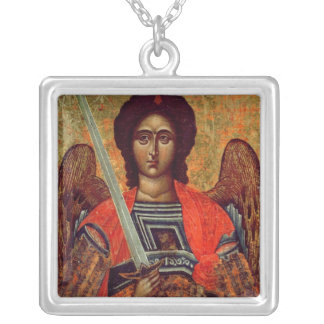 Icon of the Angel Michael, Greek, 18th century Silver Plated Necklace