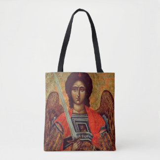 Icon of the Angel Michael, Greek, 18th century Tote Bag