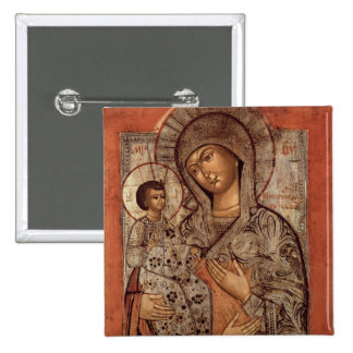 Icon of the Blessed Virgin with Three Hands Pinback Button