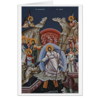 Icon of the Resurrection of Christ Card