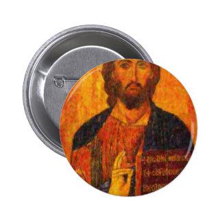icon of the savior pointillism pin