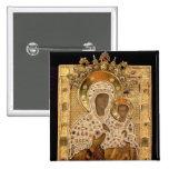 Icon of the Virgin, Smolenskaja monastery 2 Inch Square Button