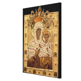 Icon of the Virgin, Smolenskaja monastery Canvas Print