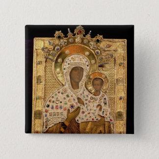 Icon of the Virgin, Smolenskaja monastery Pinback Button