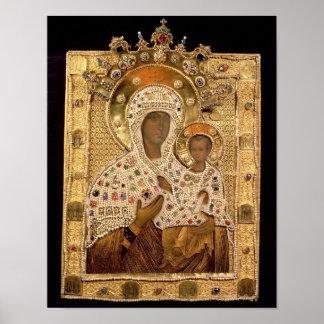 Icon of the Virgin, Smolenskaja monastery Poster