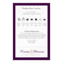 Icon TImeline Wedding Program